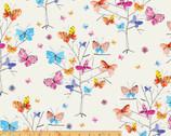 Kaleidoscope - Butterflies Trees Cream by Whistler Studios from Windham Fabrics