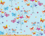 Kaleidoscope - Butterflies Trees Blue by Whistler Studios from Windham Fabrics