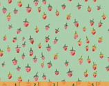 Trixie - Field Strawberries Mint by Heather Ross from Windham Fabrics