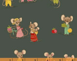 Trixie - Country Mouse Dark by Heather Ross from Windham Fabrics