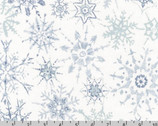 Winter Shimmer - Snowflakes Storm by Jennifer Sampou from Robert Kaufman Fabric