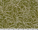 Winter Shimmer - Branches Holly Green by Jennifer Sampou from Robert Kaufman Fabric