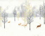 Winter Shimmer - Scenic Forest Deer Opal by Jennifer Sampou from Robert Kaufman Fabric
