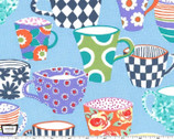 Table Talk - Coffee Break Cups Sorbet Blue from Michael Miller Fabric