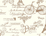 Embrace City of Lights DOUBLE GAUZE - Paris Ivory from Shannon Fabrics