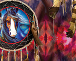 Painted Horses - Dreamcatcher by Marcia Baldwin from Benartex Fabric