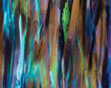 Painted Horses - Brushstrokes Multi Teal by Marcia Baldwin from Benartex Fabric