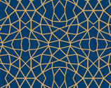 Embrace DOUBLE GAUZE - Geolines Cobalt from Shannon Fabrics
