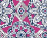 Embrace DOUBLE GAUZE - Mandala Magenta Silver from Shannon Fabrics