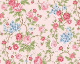 Morning In The Garden - Large Floral Pink by Mary Jane Carey from Henry Glass Fabric