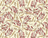 Pumpkin Spice - Leaf Wheat Cream from Quilter's Palette Fabric