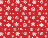 Santa and Friends - Snowflakes Red from Quilter's Palette Fabric