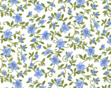 My Sunflower Garden - Vine Floral White by Jane Shasky from Henry Glass Fabric
