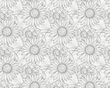 My Sunflower Garden - Outline Sunflower by Jane Shasky from Henry Glass Fabric