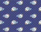 Perfect Pals - Birds Blue from 3 Wishes Fabric