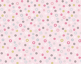 Whimsy Woodland - Sketch Circles Dots Pink from 3 Wishes Fabric
