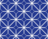 Carnivale Blue - Geometric Blue from 3 Wishes Fabric