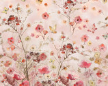 Floral Study - Pink Floral PANEL - 24 Inches by Alice Collection from Timeless Treasures Fabrics