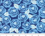 Lazy Days - Roses Floral Dark Blue by Gina Martin from Moda Fabrics