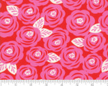 Lazy Days - Roses Floral Cayenne Red by Gina Martin from Moda Fabrics