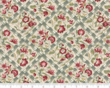 Jardin de Versailles - Florals Grid Natural by French General from Moda Fabrics