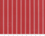Portsmouth - Decorative Stripe Red by Minick and Simpson from Moda Fabrics