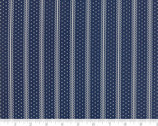 Portsmouth - Decorative Stripe Dark Blue by Minick and Simpson from Moda Fabrics