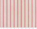 Portsmouth - Decorative Stripe Stone Red by Minick and Simpson from Moda Fabrics
