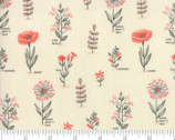 Le Pavot - Floral Cloud Poppy Natural by Sandy Gervais from Moda Fabrics