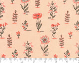 Le Pavot - Floral Blush Pink by Sandy Gervais from Moda Fabrics