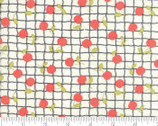 Farmhouse II - Apple Grid Milk Tomato Red by Fig Tree Quilts from Moda Fabrics