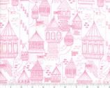 Once Upon A Time - Castle Outline Pink by Stacy Iest Hsu from Moda Fabrics