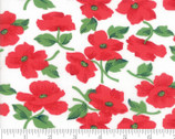 Feed Sacks Red Rover - Poppies Ruby Red White by Linzee Kull McCray from Moda Fabrics