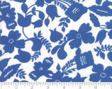 Feed Sacks Red Rover - Floral True Blue by Linzee Kull McCray from Moda Fabrics