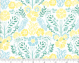 Grand Canal - Floral Damask White Ochrel by Kate Spain from Moda Fabrics