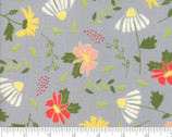 Clover Hollow - Floral Toss Shadow Grey by Sherri and Chelsi from Moda Fabrics