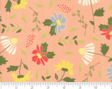 Clover Hollow - Floral Toss Peachy Pink by Sherri and Chelsi from Moda Fabrics