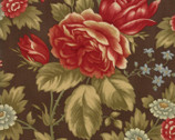 Rosewood - Rose Large Chocolate Brown by 3 Sisters from Moda Fabrics