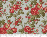 Rosewood - Rose Small Frost Aqua by 3 Sisters from Moda Fabrics