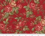 Rosewood - Rose Small Cherry Red by 3 Sisters from Moda Fabrics