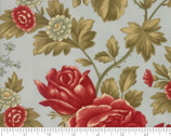 Rosewood - Rose Large Frost Aqua by 3 Sisters from Moda Fabrics