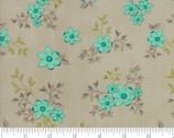 Woodland Secrets - Flowers Tan Flax by Shannon Gillman Orr from Moda Fabrics