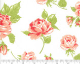 Smitten - Roses Rosy Cream White by Bonnie and Camille from Moda Fabrics