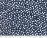 Guest Room - Small Flowers Toss Navy Dark Blue by Kristyne Czepuryk from Moda Fabrics