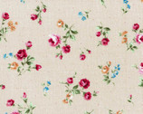 Flower Fields - Floral Rose Toss Mauve Beige from Lecien Fabric