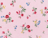 Flower Fields - Floral Rose Toss Pink from Lecien Fabric