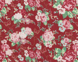 Woodland Rose - Rose Bouquet Butterfly Red by Jera Brandvig from Lecien Fabric