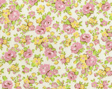 Retro 30's Child - Floral Pink on Cream from Lecien Fabric