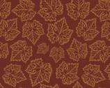 Wine Splendor - Grape Leaves Tonal Wine from David Textiles Fabric