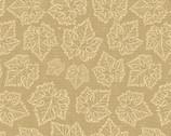 Wine Splendor - Grape Leaves Tonal Beige from David Textiles Fabric